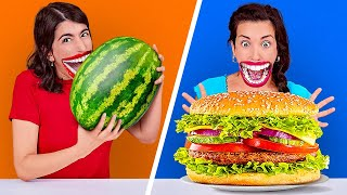 PEOPLE VS FOOD CHALLENGE    Try To Eat In 1 Second! Fastest Speed Eating By 123 GO! CHALLENGE