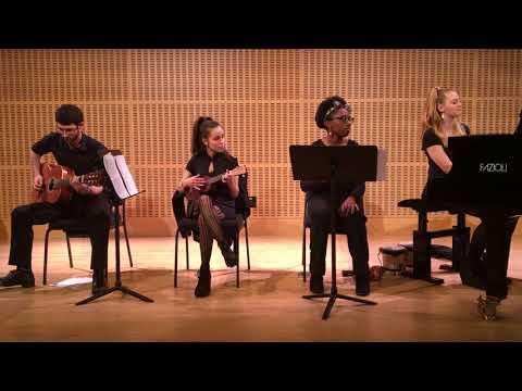 Adelphi World Music Ensemble Madi Singing Paul Simon Diamonds On The Souls Of Her Shoes