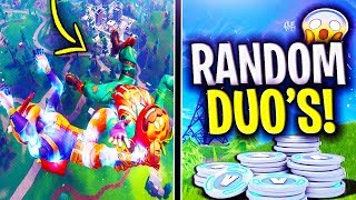 🔴 Random Duos In 2019! | V BUCKS GIVEAWAY! - Fortnite Battle Royale