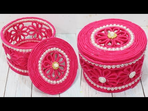 Beautiful jewelry box with woolen & newspaper | Diy jewelry box