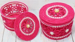 Beautiful jewelry box with woolen & newspaper | Diy jewelry box