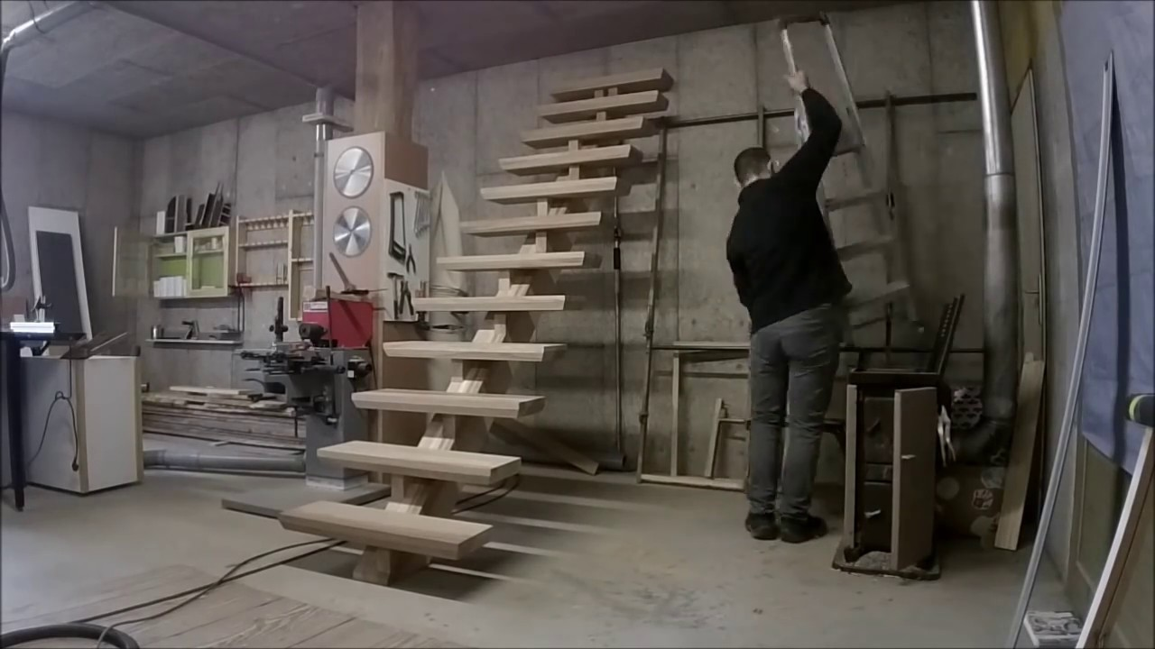 Marche Escalier Metal Fabrication D'un Escalier Partie 3/build An Oak Staircase