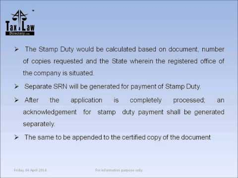 """""""Online payment of stamp duty and court fee stamp for issue of certified copies"""""""