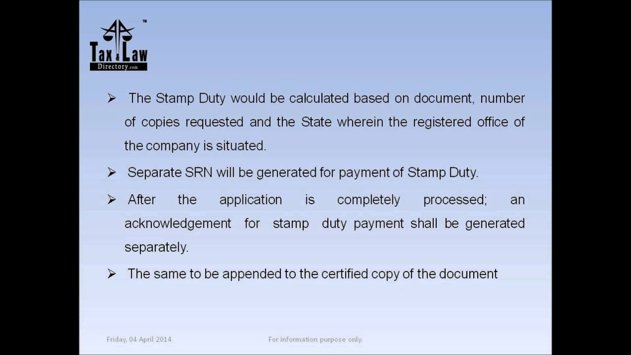 Online Payment Of Stamp Duty And Court Fee Stamp For Issue Of