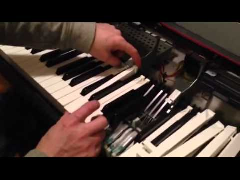 how to repair sticking piano keys on a yamaha clavinova