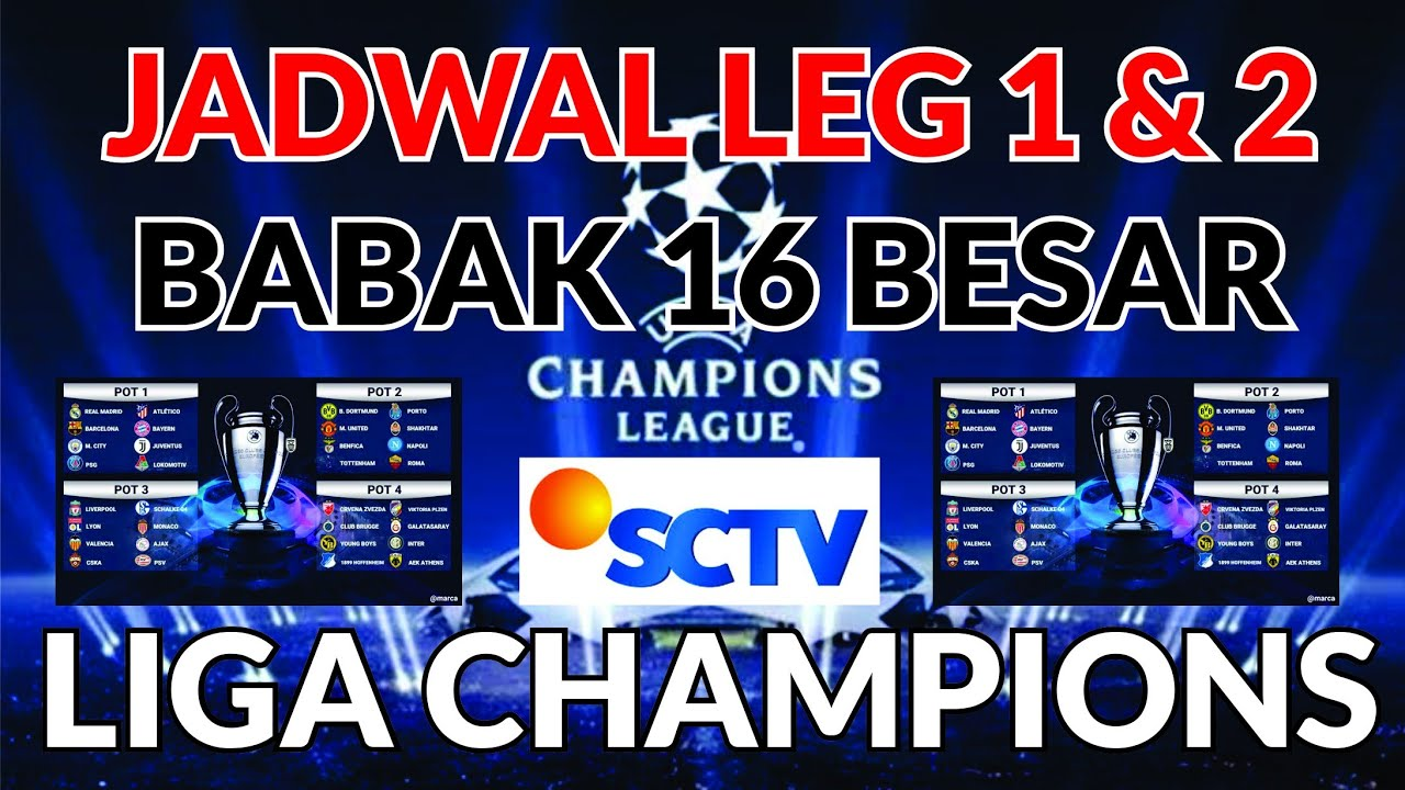 Jadwal Leg 1 & 2 Babak 16 Besar Liga Champions 2019/2020 ...