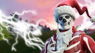 Un Papa Noël squelettique dans la boutique (ça rime lol)