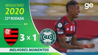 FLAMENGO 3 X 1 CORITIBA| MELHORES MOMENTOS | 22ª RODADA BRASILEIRÃO 2020 | ge.globo