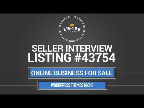 Online Business For Sale - $6.7K/month in the Wordpress Themes Niche