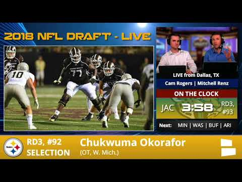 Pittsburgh Steelers Select OL Chukwuma Okorafor With Pick #92 In 3rd Round Of 2018 NFL Draft - 동영상