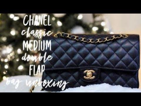 350f32650a1d Unboxing: CHANEL MEDIUM CLASSIC DOUBLE FLAP BAG - YouTube