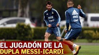 La dupla Messi-Icardi ya está engrasada: doble pared deliciosa | Diario AS