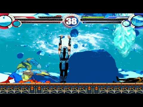 Spiderman & Wolverine Vs Scorpion & Sub-Zero MUGEN Battle!!!