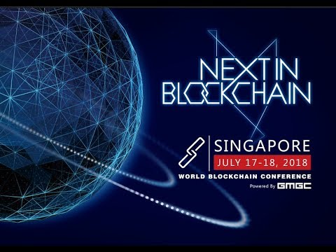 """Xinxin An moderating the """"Blockchain in Asian Countries"""" panel at theWorld Blockchain Conference in Singapore (2018)"""
