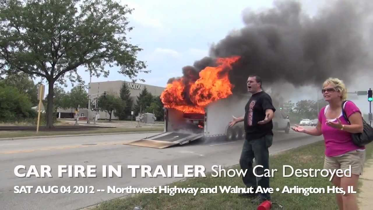 Show Car Camaro Destroyed By Fire During Transport In Trailer
