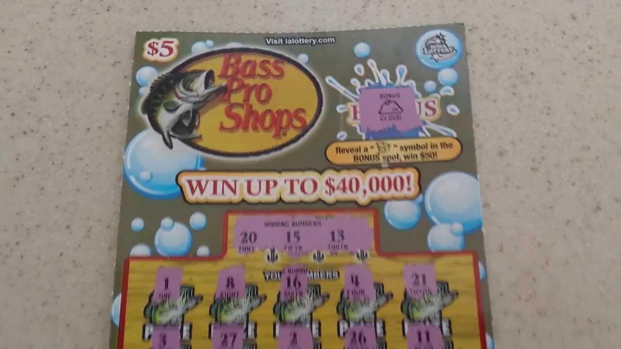 Bass Pro Shops 5 Iowa Lottery Scratch Off Youtube