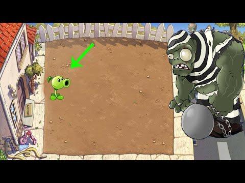 Plants Vs Zombies - 1 Peashooter Pvz Vs Gargantuar Vs  Dr. Zomboss