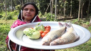 Fish Curry with Shalgam Tomato Recipe - Fish Curry Village Style Cooking - Delicious Rohu Fish Curry