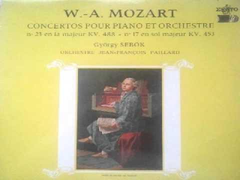 György Sebők plays Mozart - Klavierkonzert K 488 - Orchestre Jean François Paillard LP