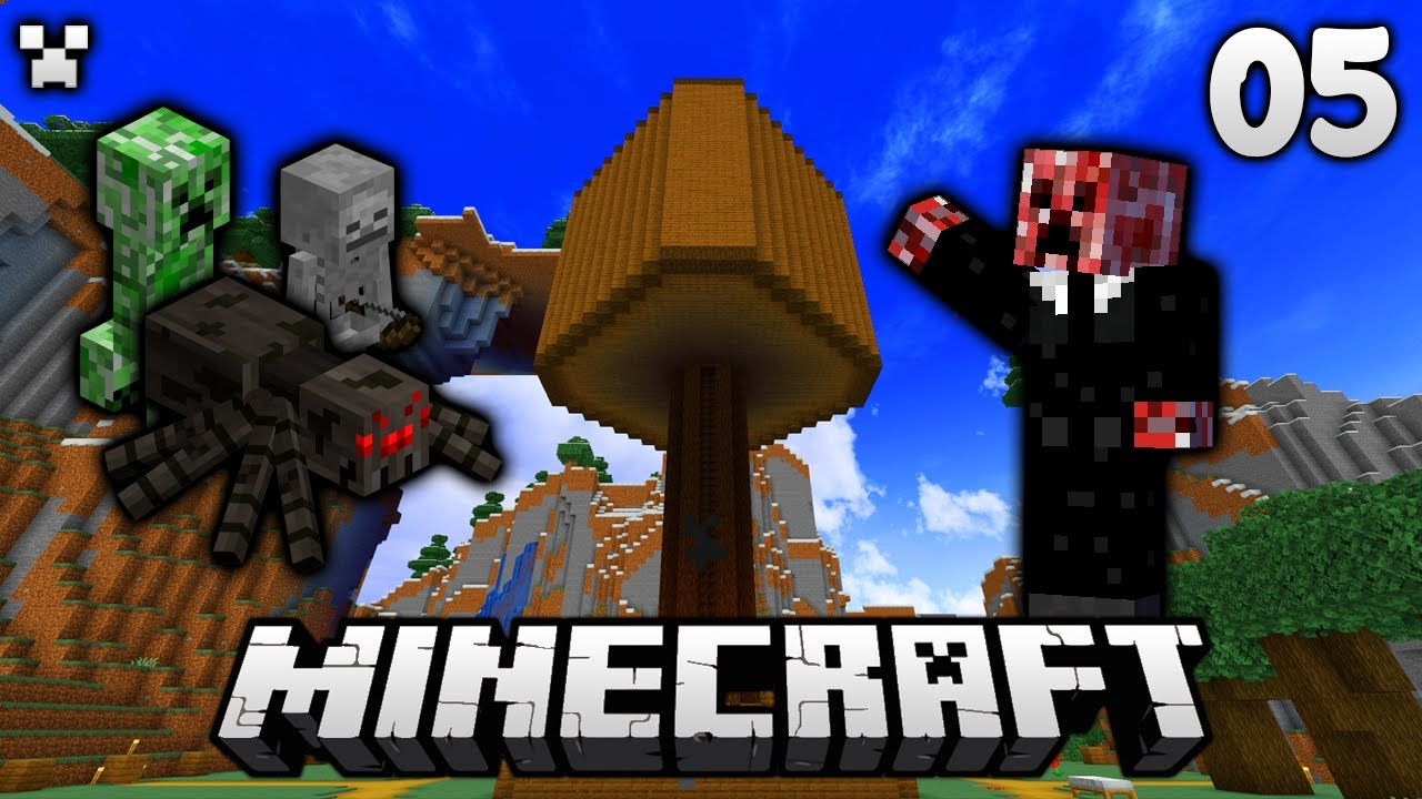 Easy & Epic Mob Farm!   Let's Play Minecraft Survival Ep.5