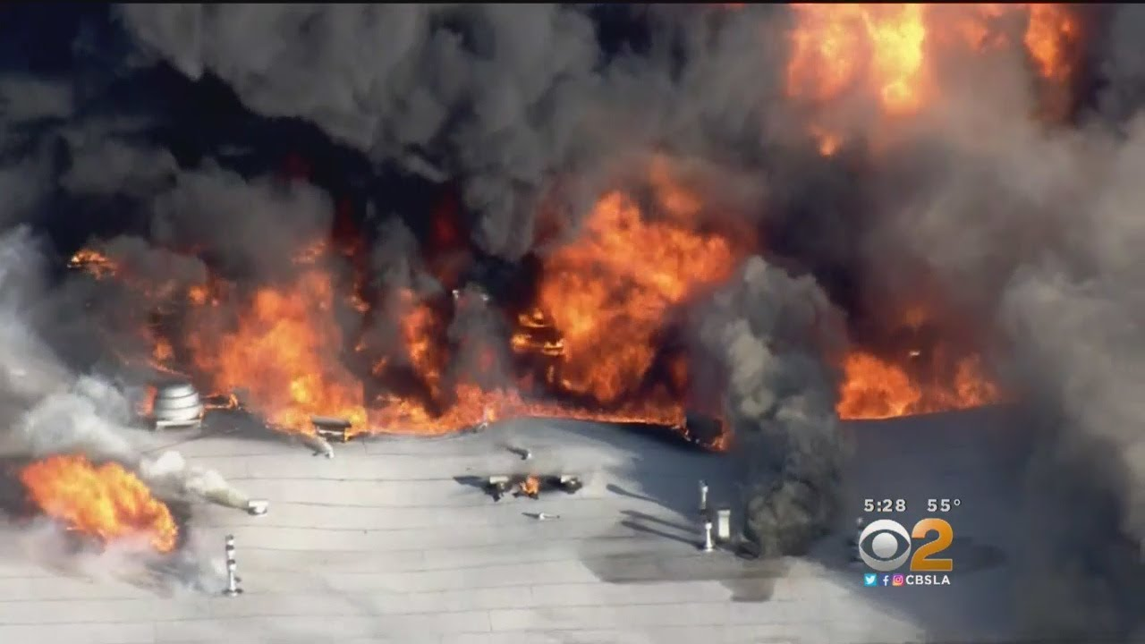Huge Apartment Fire Takes Down Most Of Pico Rivera Complex