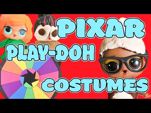 LOL Surprise Dolls Disney Pixar Spin the Wheel Game w/ Spice and Fierce!   LOL Dolls Families