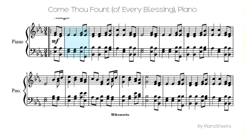 Come Thou Fount (of Every Blessing) [Piano Solo] - YouTube