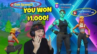 this 14 YEAR OLD won my $1,000 spectate game with a controller... (so amazing)