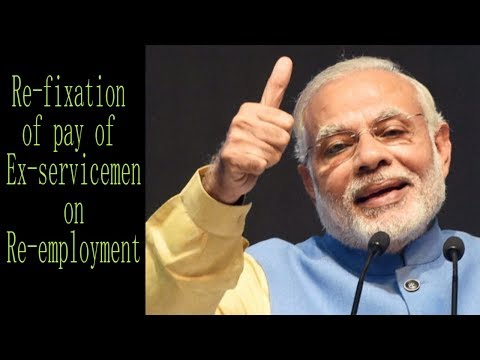 The issue of fixation of pay of ex-servicemen on re-employment will be solved very soon.