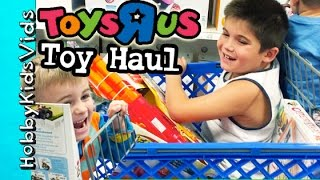 Toys R Us Haul with HobbyKids! HobbyMema + HobbyPapa Join the Fun HobbyKidsVids