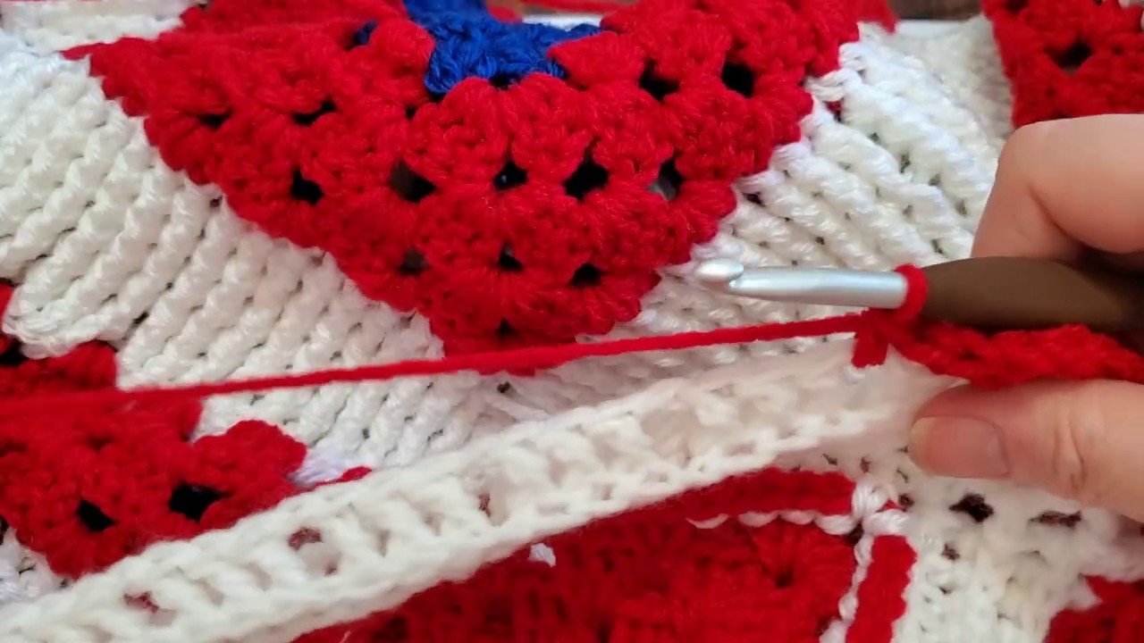 Amanda's Patriotic Blanket part 3, finale!