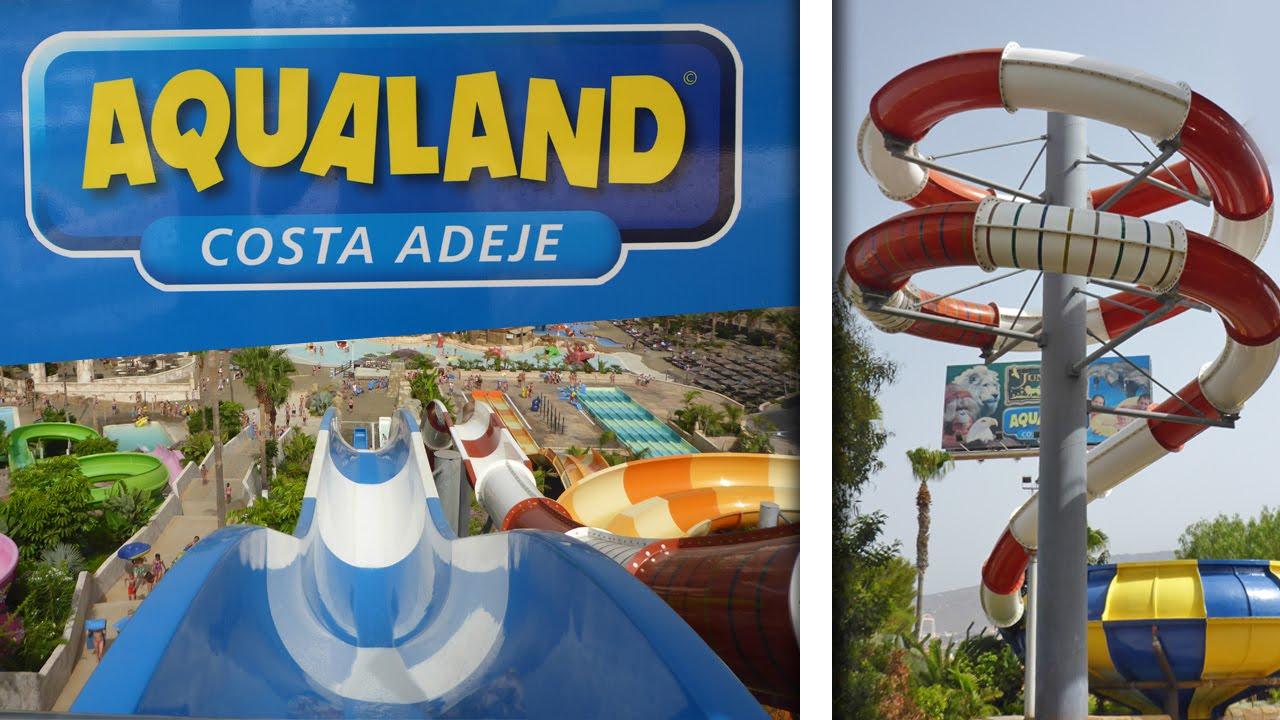 Aqualand costa adeje all big water slides compilation - Aqua tenerife ...