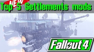 Fallout 4 - Top 5 Settlement Player Homes Mods (XBOX/PS4/PC)