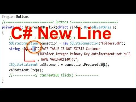 C# Line Break In The Code