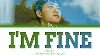 D.O. 'I'm Fine' Lyrics (디오 I'm Fine 가사) (Color Coded Lyrics)