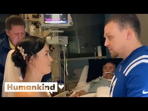 Bride plans wedding in 30 minutes so ill dad can attend | Humankind