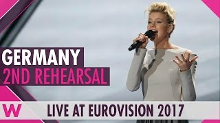 "Second rehearsal: Levina ""Perfect Life"" (Germany) Eurovision 2017 