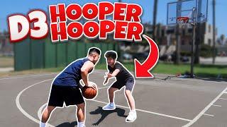 I GOT CALLED OUT!!! 1v1 BASKETBALL AGAINST D3 HOOPER HOOPER!