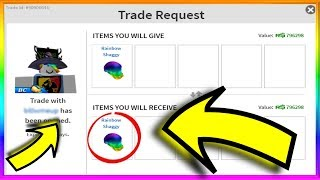Trading with Roblox ADMINS!! *HE OWNS RAINBOW SHAGGY!! *