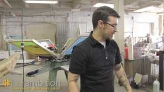 How to screen print waterbased inks