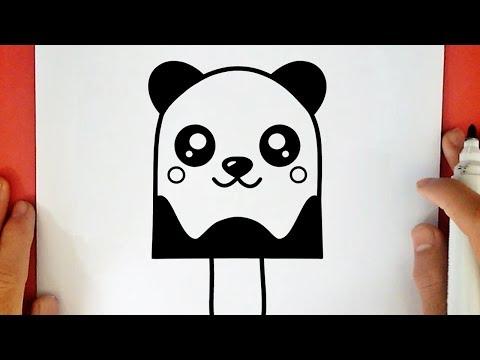 HOW TO DRAW A CUTE PANDA ICE CREAM