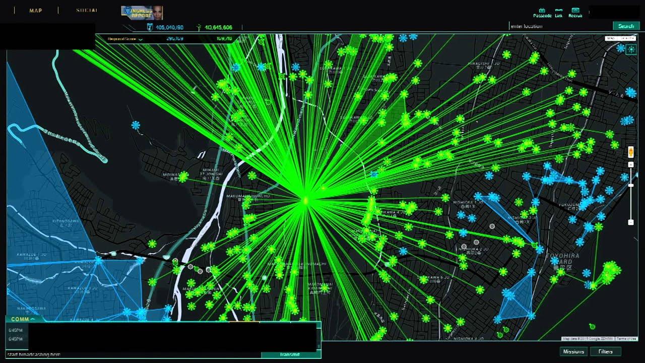 Ingress intel map 2015/7/15 sapporo