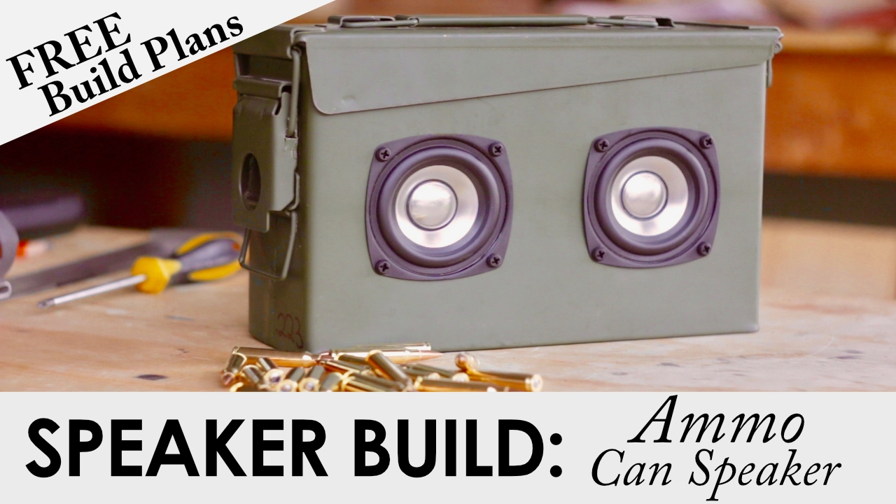 Portable Ammo Can Bluetooth Speaker for $52 | FREE BUILD PLANS | DIY  Speaker Build