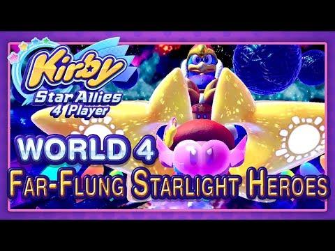 Kirby Star Allies: World 4 - Far-Flung Starlight Heroes (4-Player)