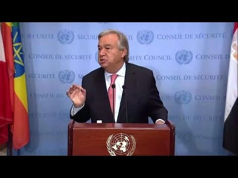 António Guterres (UN Secretary-General) on D.P.R.Korea, Myanmar, Climate Change - Media Stakeout