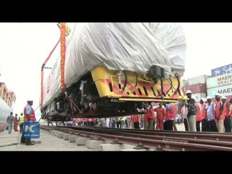 Kenya receives first batch of locomotives from China