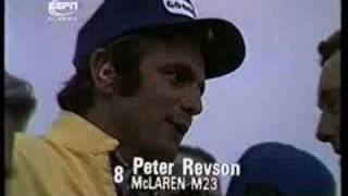 Formula One Peter Revson interview (very rare)