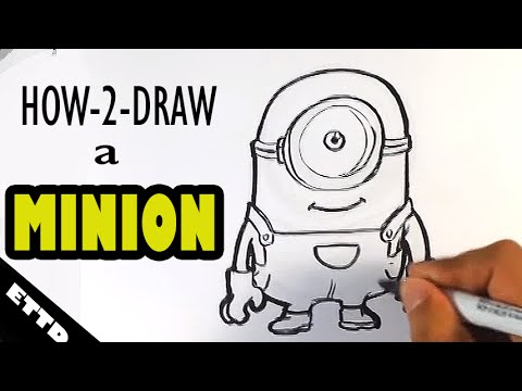 How To Draw A Minion Easy Things To Draw Youtube