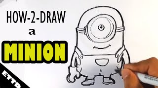 How to Draw a Minion - Easy Things to Draw