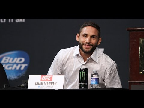 Chad Mendes Takes it to McGregor (UFC 189 Press Conference)